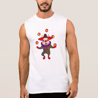 Clown Dog Frenchie entertains you with his love Sleeveless Shirt