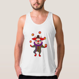 Clown Dog Frenchie entertains you with his love Tank Top