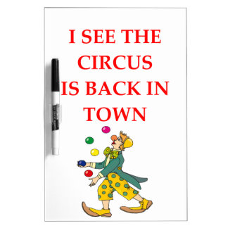 clown dry erase boards