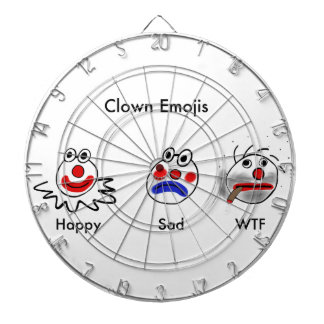 Clown Emojis Dartboards