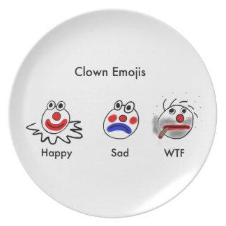 Clown Emojis Party Plates