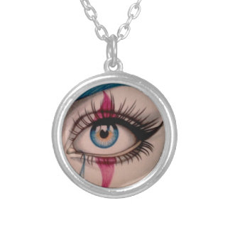 Clown Eye Silver Plated Necklace