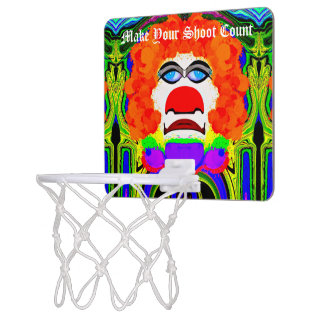 Clown Eyes Basketball Hoop