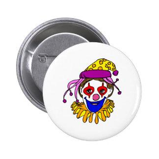 Clown Face 2 Inch Round Button