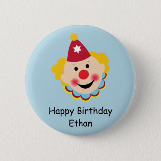 Clown Face Birthday Button