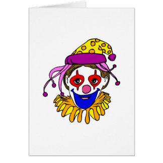 Clown Face Card