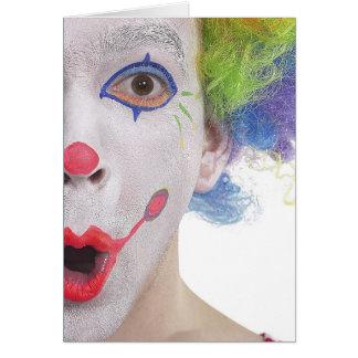 Clown Face Greeting  Card