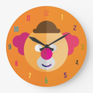 Clown Face Kids Room Clock