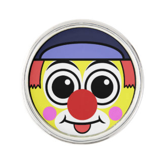 Clown Face Lapel Pin