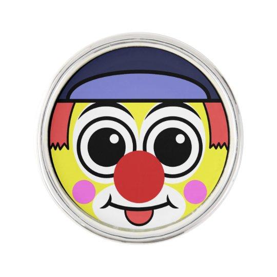 Clown Face Lapel Pin