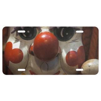 Clown Face License Plate
