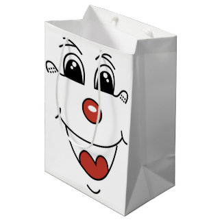 CLOWN FACE MEDIUM GIFT BAG