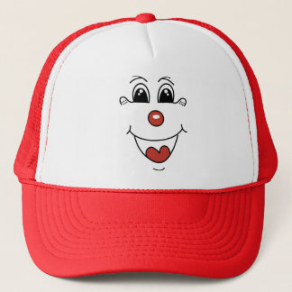 CLOWN FACE TRUCKER HAT