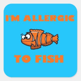 clown fish allergy alert sticker
