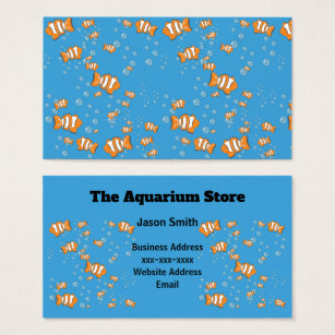 Clowns business cards business card printing zazzle ca clown fish and air bubbles business card colourmoves