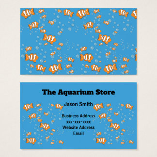 Clown Fish and Air Bubbles Business Card