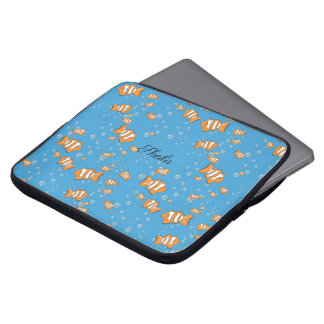 Clown Fish and Air Bubbles Laptop Sleeve