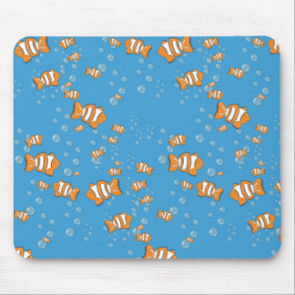 Clown Fish and Air Bubbles Mouse Pad