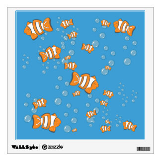 Clown Fish and Air Bubbles Wall Sticker