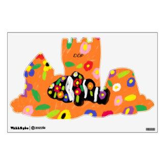 clown fish art wall sticker