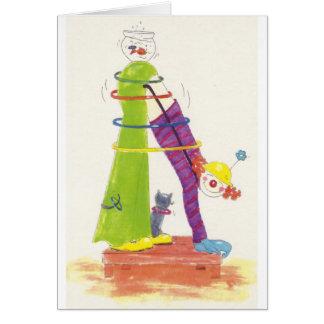 Clown & Fish Bowl Card