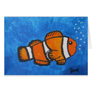 Clown Fish by Joel Anderson Card