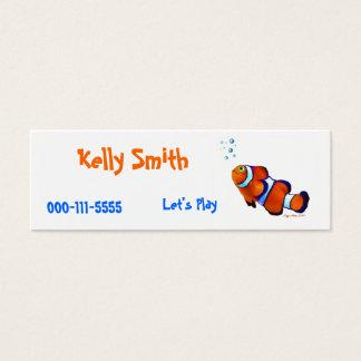 Clown Fish Childrens Calling Card