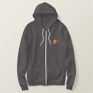 Clown Fish Embroidered Hoodie