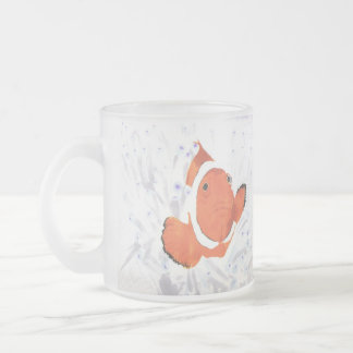 Clown Fish Frosted Glass Coffee Mug