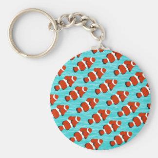 Clown fish pattern basic round button keychain