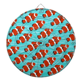 Clown fish pattern dartboard