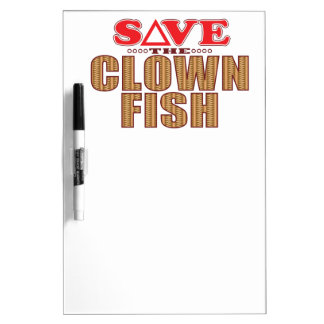 Clown Fish Save Dry Erase Boards