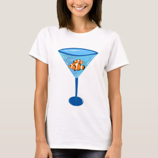Clown Fishtini Clown Fish Martini Glass T-Shirt