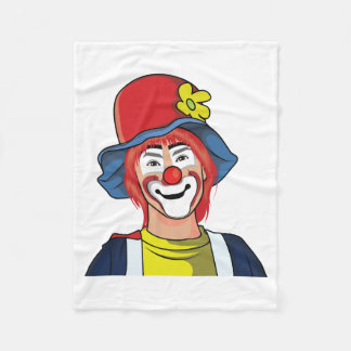 Clown Fleece Blanket