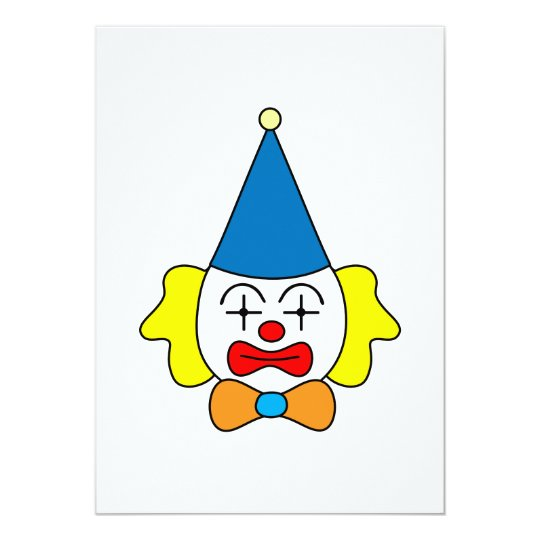 Clown - funny face. card