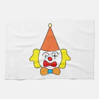 Clown - funny face. kitchen towel