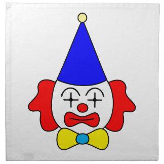 Clown - funny face. napkin