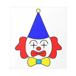 Clown - funny face. notepad