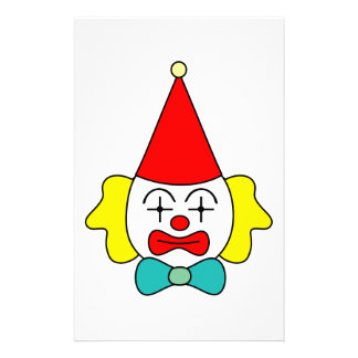 Clown - funny face. stationery