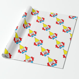 Clown - funny face. wrapping paper