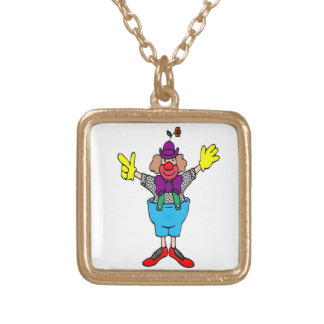 Clown Gold Plated Necklace