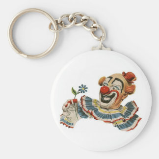 Clown Grins at Flower - Keychain