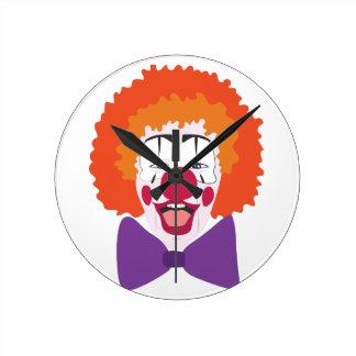 Clown Head Round Clock