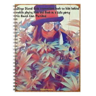 Clown hides during hide and seek. notebook
