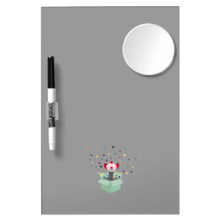 Clown in a box dry erase board