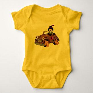 Clown in Car Baby Bodysuit