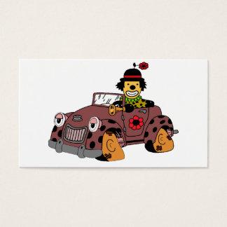 Clown in Car Business Card