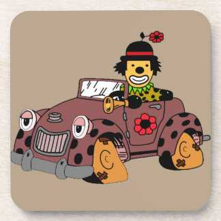 Clown in Car Coaster