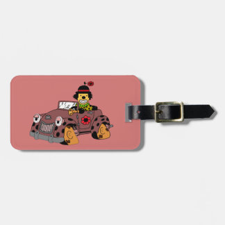 Clown in Car Luggage Tag