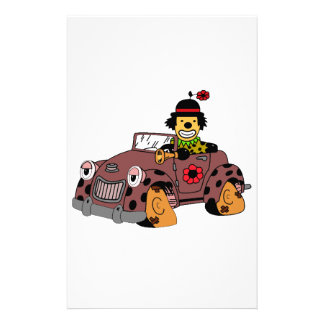 Clown in Car Stationery